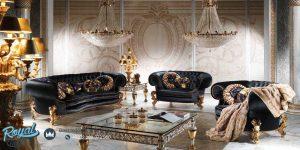 Set Sofa Tamu Mewah Black Wise Sofa Set Mewah Terbaru