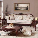 Set Sofa Tamu Mewah Escase Furniture Jati Klasik Terbaru