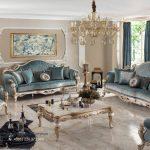 Set Sofa Tamu Mewah Living Room Set Furniture Terbaru
