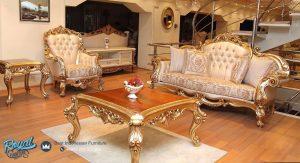 Set Sofa Tamu Mewah Sahika Ukiran Jepara Terbaru