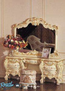 Meja Rias Mewah Ukiran Sleepkamer Furniture Terbaru