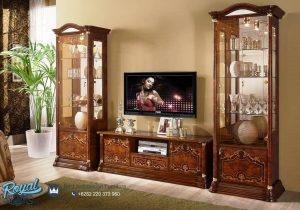Set Bufet TV Almari Hias Mewah Gostinoy Jati Klasik Terbaru