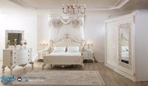 Set Kamar Tidur Mewah Classic White Duco Modern Terbaru