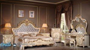 Set Kamar Tidur Mewah Ukiran Eropa Klasik Model Terbaru