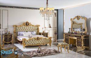 Set Kamar Tidur Mewah Ukiran Jepara Anial Klasik Terbaru