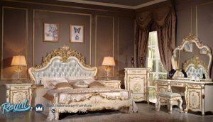 Set Kamar Tidur Mewah Ukiran Jepara Klasik Terbaru