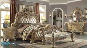 Set Kamar Tidur Mewah Ukiran Royal Kingdom Bedroom Set Terbaru