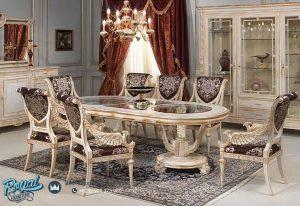 Set Meja Makan Mewah Eropa Klasik Model Terbaru