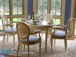 Set Meja Makan Mewah Rustic Modern Set Terbaru