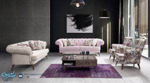 Set Sofa Tamu Mewah Anemon Minimalis White Chic Terbaru