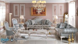 Set Sofa Tamu Mewah Europe Fabrican Sofa Set Mewah Terbaru