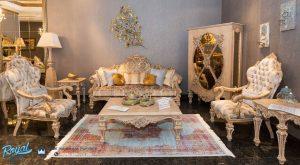 Set Sofa Tamu Mewah Idenial Ukiran Mewah Terbaru