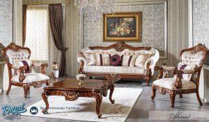 Set Sofa Tamu Mewah Jati Ukir Klasik Furniture Terbaru