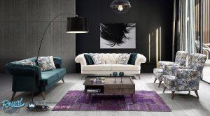 Set Sofa Tamu Mewah Model Minimalis Anemon Style Terbaru