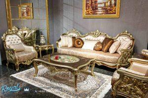 Set Sofa Tamu Mewah Sultan Model Ukiran Mewah Terbaru