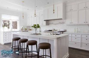 Kitchen Set Minimalistic White Duco American Style Terbaru