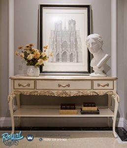 Meja Console Wooden Model Rococo Mewah Terbaru