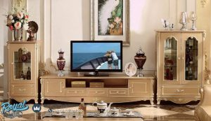 Set Bufet TV dan Almari Hias Mewah Model Rafles Terbaru