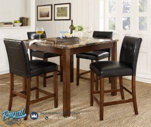 Set Meja Makan Minimalis Klasik Long Chair Modeste Terbaru