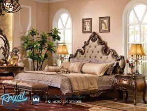 Bedroom Set Mewah Augustine Jati Ukiran Klasik Terbaru