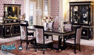 Black Dining Table Scarlett Classic Dining Room Terbaru