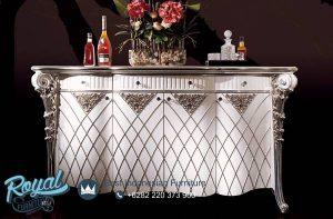 Bufet TV Mewah Silver Cabinet Model Terbaru