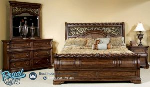 Fantastic Solid Wood Bedroom Set Jati Klasik Terbaru