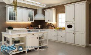 Italian Minimalis Kitchen Set Duco Putih Mewah Terbaru