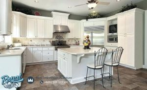 Kitchen Set Cabinet Design White Duco Mewah Terbaru