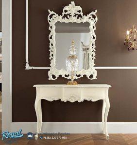 Meja Konsol Bellavita Putih Duco dan Mirror Terbaru