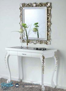 Meja Konsol Interira Duco Putih dan Cermin Model Terbaru