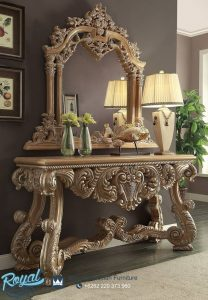 Royal Kingdom Console Table Ukiran Mewah Terbaru