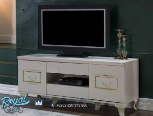 Sementa Plazma TV Bufet TV Minimalis Duco Putih Terbaru