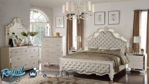 Set Kamar Tidur Mewah Sonia Duco Putih Model Terbaru