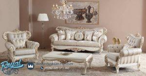 Set Kursi Tamu Sofa Koltuk Putih Duco Klasik Jepara Terbaru