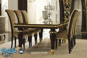 Set Meja Makan Mewah Maci Gold Furniture Terbaru