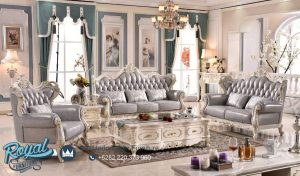 Set Sofa Tamu Mewah Luxury Furniture Living Room Set Terbaru