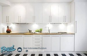 All White Kitchen Set Design Model Mewah Terbaru