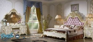 Bedroom Set Mewah Eropa Style Ukiran Mewah Terbaru