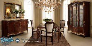 Classic Dining Room Design Kayu Jati Mewah Terbaru