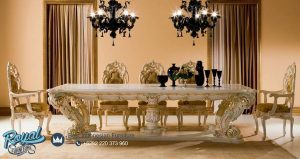 Dining Room Table Wood Luxury Set Mewah Terbaru