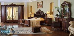 Furniture Kamar Tidur Set Kayu Jati Mewah Model Terbaru