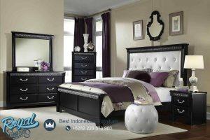 King Traditional Black Bedroom Set Mewah Terbaru