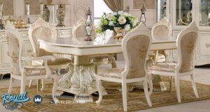 Kursi Meja Makan Mewah Duco Putih Terbaru