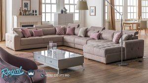 Kursi Tamu Sofa Mewah Set Terbaru Model L Design
