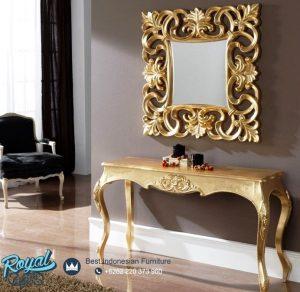 Meja Konsol Mewah Simple Design with Mirror Terbaru