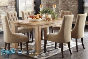 Rustic Dining Room Set Furniture Mewah Terbaru