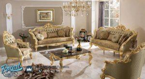 Set Kursi Tamu Sofa Terbaru Mewah Finishing Gold