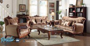 Sofa Tamu Mewah Furniture Jati Klasik Model Terbaru