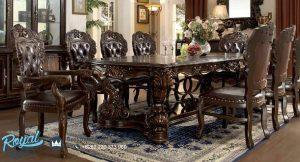 Victorian Dining Room Set Mewah Kayu Jati Model Terbaru